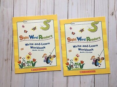 Scholastic Sight Word Readers Write-and-Learn Workbooks #1-#12 / #13-#24