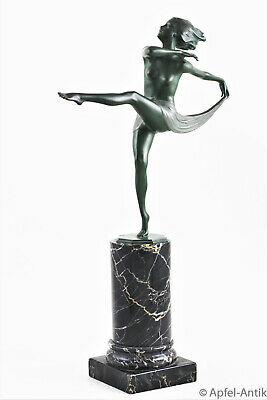 LORENZL, Josef;  ART DECO BRONZE, Tänzerin um 1925,  Dancing girl around 1925