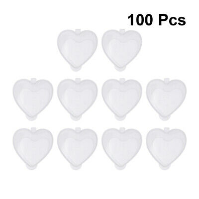 50ML Pack of 50/100 Heart Shaped PP Plastic Leak Proof Container with Lid