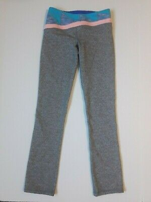 Girls Ivivva Lululemon Leggings Yoga Pants size 10 gray