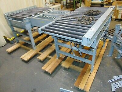 "Hytrol Powered Roller Transfer Conveyor Sections With Drives 30"" Roller"