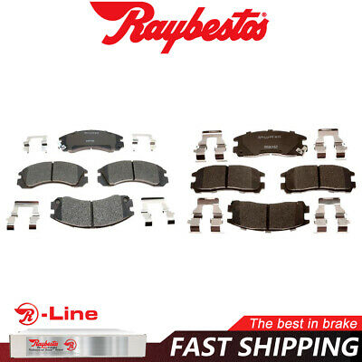 Front and Rear Ceramic Brake Pads For 1991 1992 1993 STEALTH 3000GT VR4 AWD