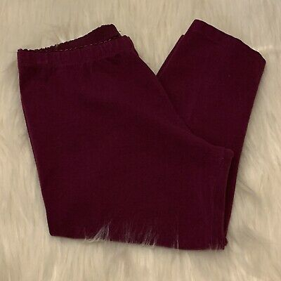 Tea Collection Plum Cropped Leggings Size 12