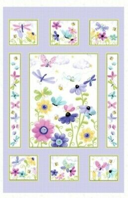 Susybee Flutter The Butterfly Quilt Panel * Pretty * New * Free Post *