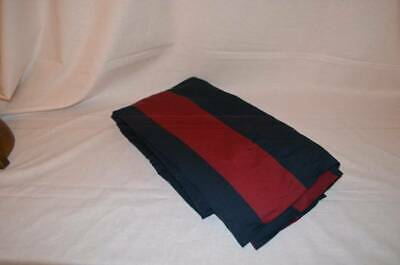 NWOT Pottery Barn kids Rugby Drape Panel 63 inches Navy Red