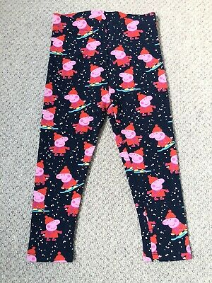 BNWT Next Girls Peppa Pig Christmas Leggings 2-3 Years