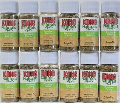12 Ct Kong 0.09 Oz Naturals Cats Need To Play North America Grown Premium Catnip