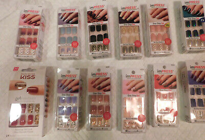 Kiss imPRESS-(Press-On Manicure),One-Step Nails,Choose Style-(Free Shipping)