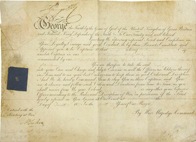 King George Iv (Great Britain) - Document Signed 12/1823