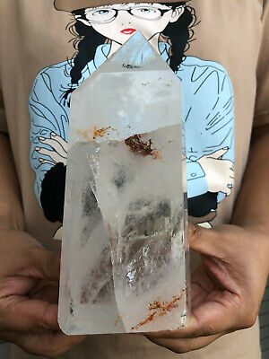 2.9LB  Natural  Clear Quartz Obelisk Crystal Wand Point Healing  HYD439