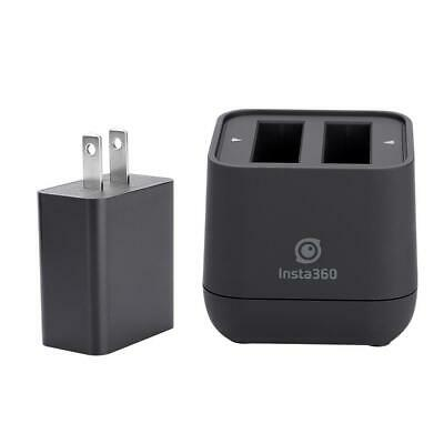 Action Camera Battery Charger Dual Slot USB Charging Accessory for Insta360 One
