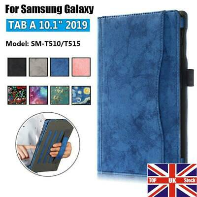 For Samsung Galaxy Tab A 10.1 2019  T510 T515 Folio Flip Leather Case Stand Case