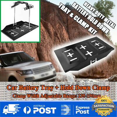 Adjustable Car Storage Battery Holder Stabilizer Metal Rack Mount Bracket Stand