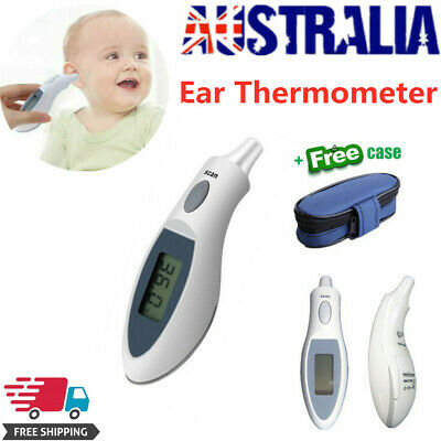 NEW Digital LCD Infrared Ear Thermometer For Baby Adults With Cover Bag Case