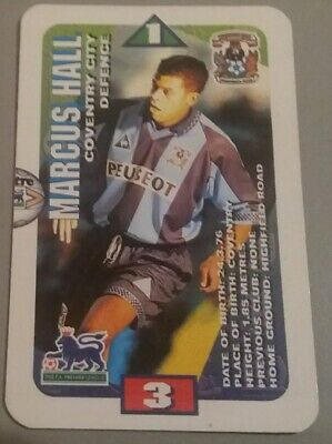 Subbuteo Squads 1996 Trading Card MARK ROBINS Leicester City