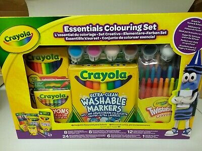 Crayola Essentials Colouring Set Art & Craft Crayons Markers Colouring Pens -NEW