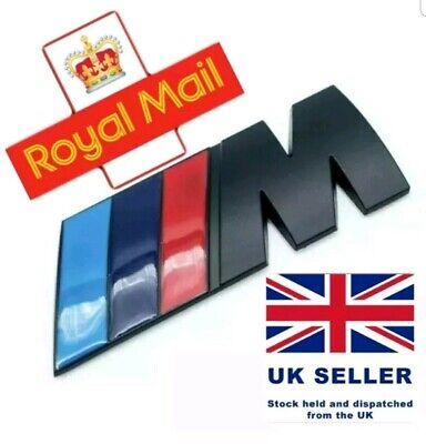 Black M Sport Boot Badge for BMW X1 1,2,3,4 5 X5. Genuine U.K. Seller 3M 82mm