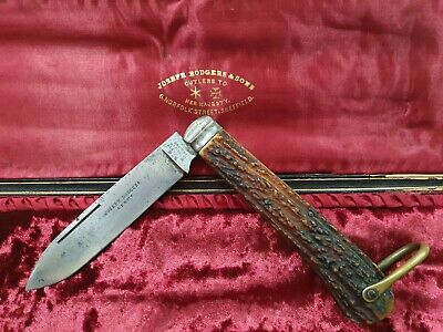 Vintage Joseph Rodgers and Sons Antique Sheffield Large Folding Bowie Knife