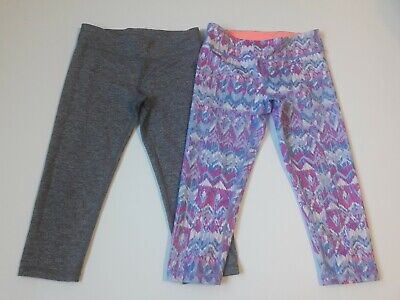 Ivivva Lululemon Rhythmic Crop Leggings size 12 two pairs