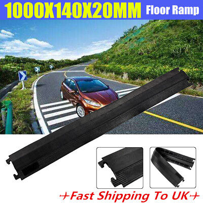 100cm Durable Wire Cover Cable Cord Road Ramp Protector Safety Rubber Outdoor
