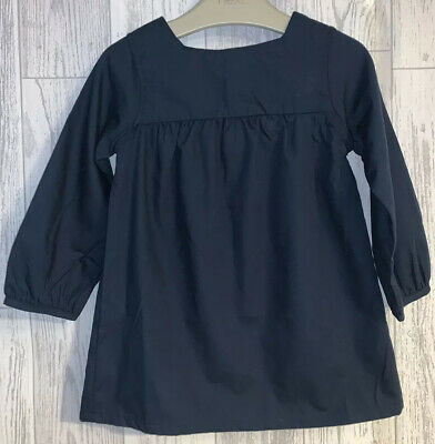 Girls Age 12-18 Months - NEXT Navy Long Sleeved Dress - New Without Tags 🎀