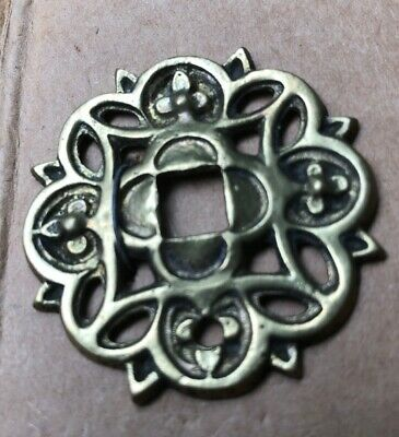 Antique Cast Brass Door Rosette/Escutcheon