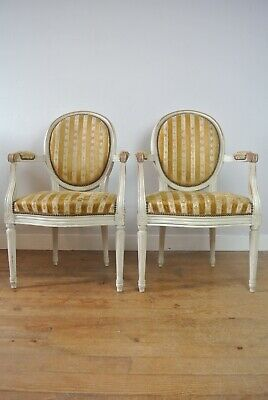 Pair Of 19th Century Antique French Louis XVI Style Chairs