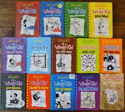 Lot 14 The Diary of a Wimpy Kid Series Chapter Books by Jeff Kinney 1-13