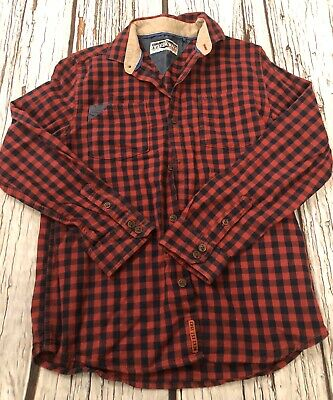 Age 9 Boys Red Next Checked Shirt Hardly Worn  8-9 Years