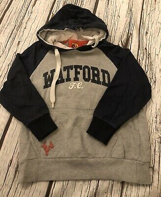 Kids Size Small 6-7 Years Watford Fc Hoodie Official Merchandise Grey Football