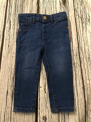 12-18 Months River Island Mini Skinny Stretch Blue Jeans Adjustable Waist