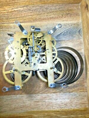 Old Ingraham Clock Movement For Parts/Repair (Untested/Springs Good) (K1179)