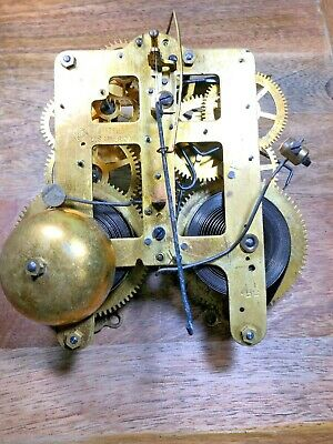 Old Seth Thomas Clock Movement For Parts/Repair (Untested/Springs Good) (K1181)