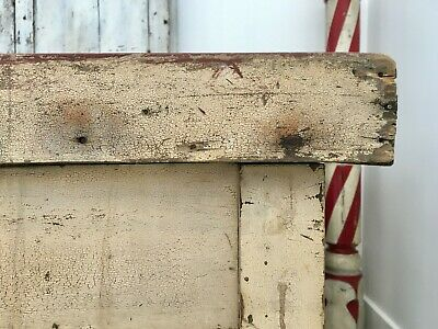 Aafa Early Antique Folk Art Wood Harvest Fall Farm Sorting Table Original Paint