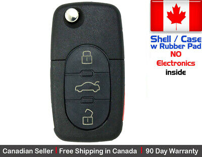 1x New Replacement Remote Key Fob Flip For AUDI *** Shell ONLY ***