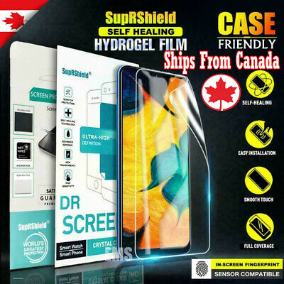 Samsung Galaxy A50 A10e A30 A70 SupRShield HYDROGEL Full Cover Screen Protector