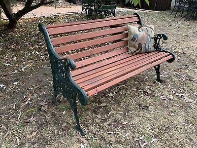 Beautiful Vintage Antique Style Cast Iron Garden Bench,Chair,Seat~Heavy
