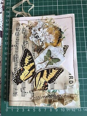 Hand made Vintage Music Sheet Butterfly Folder Junk Journal  Shabby chic Tags