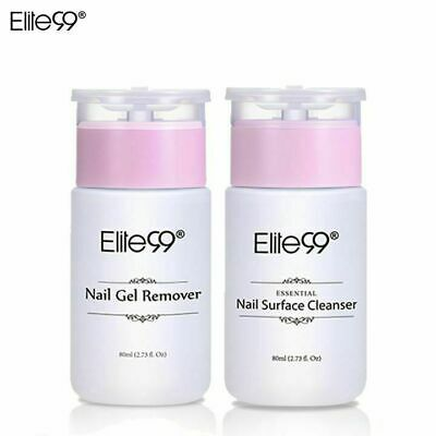 Elite99 Nail Gel Polish Prep + And Wipe & Remover UV LED Manicure Decor 80ml