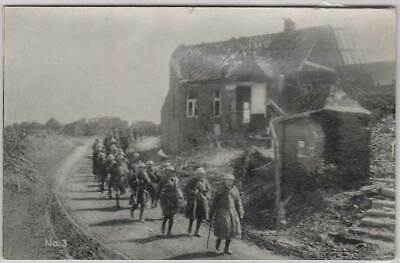 VINTAGE WW1 Official ACF AUSTRALIA PHOTO POSTCARD No 3 Anzacs coming to rest