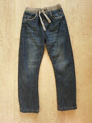 Boys Slim Fit Denim Jeans With Stretchy Comfy Waistband - age 8 years