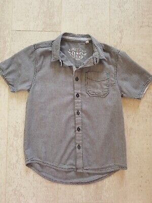 Boys Short Sleeved Firetrap Shirt Black And White Age 8-9 Years - only worn once