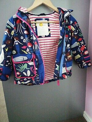 Mini Boden Fleece Lined mermaid girls Coat Age 5-6 years excellent condition