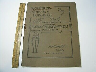 Vintage Northrup Coburn Dodge Metal Ceilings Walls Catalog 1910 Design Architect