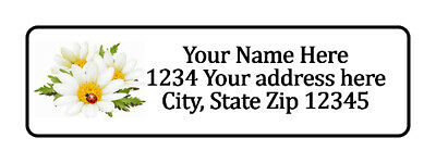 800 Flowers Ladybug Personalized Return Address Labels. 1/2 inch by 1 3/4 inch