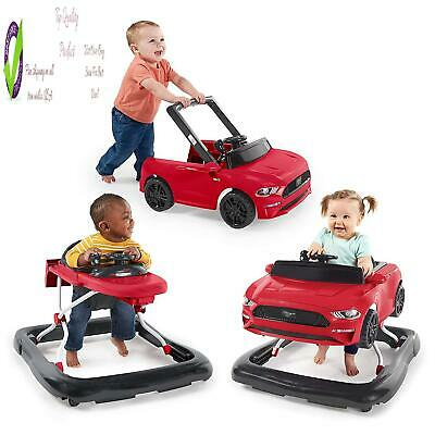 Bright Starts 3 Ways To Play Walker - Ford Mustang, As 6 Months +,