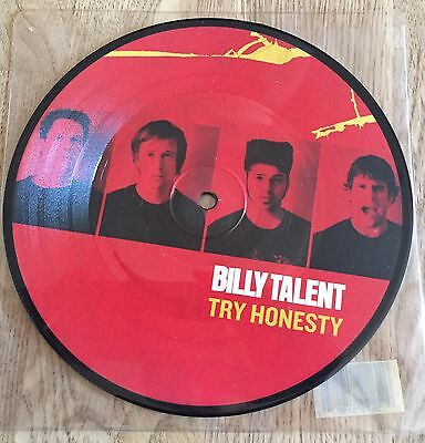 """BILLY TALENT - Try Honesty 7"""" LIMITED PICTURE *RAR* UK"""