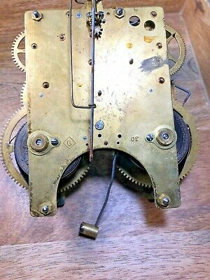 Old Gilbert Clock Movement For Parts/Repair (Untested/Springs Good) (K1196)