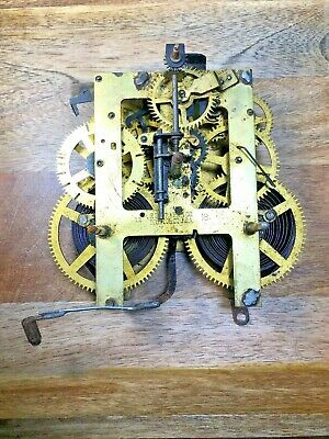 Old Ingraham Clock Movement For Parts/Repair (Untested/Springs Good) (K1198)