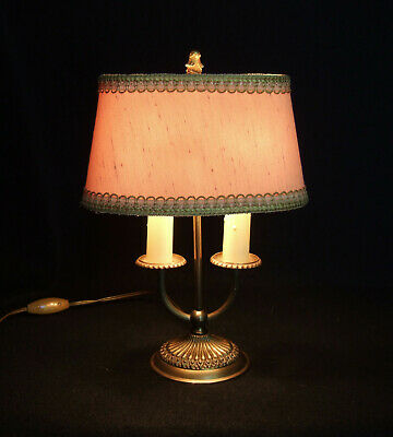 Classic Antique  French Gilt Bronze 2 Branch Bouillotte Lamp,Light.